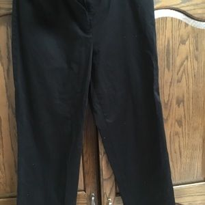 Career pants short length but to ankle stretch